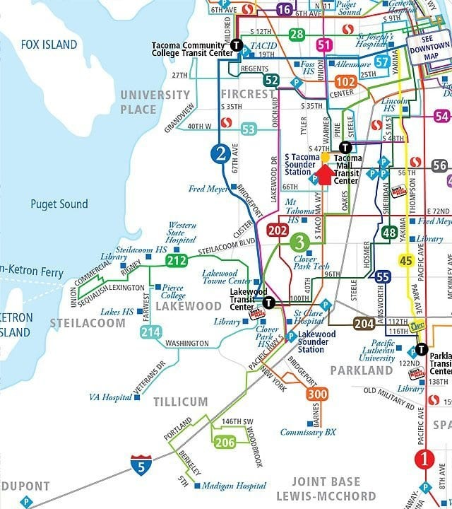 32 Pearls Tacoma-Bus-Routes